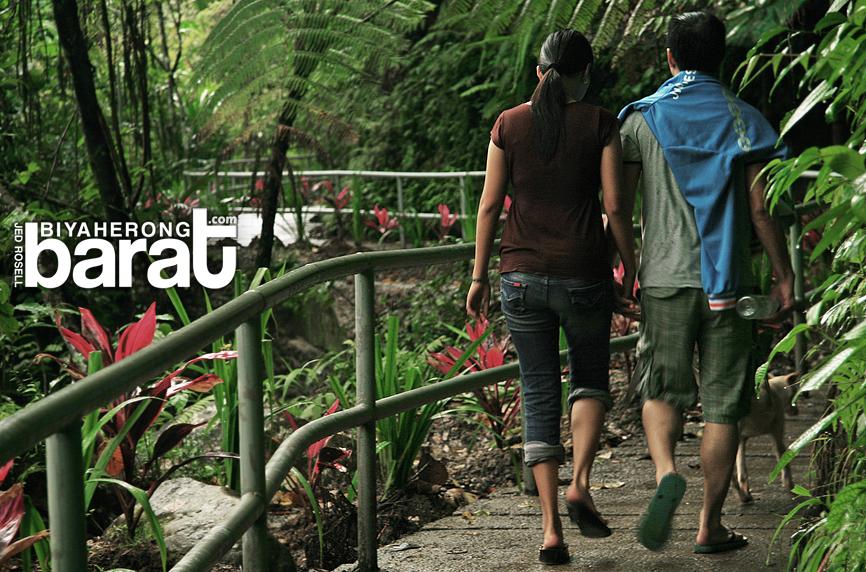 Cemented trail in Majayjay Falls Taytay Falls