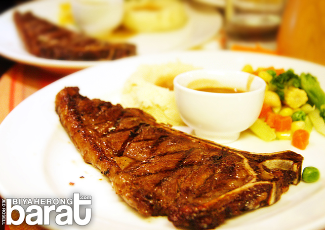 Arabela Restaurant T-bone steak