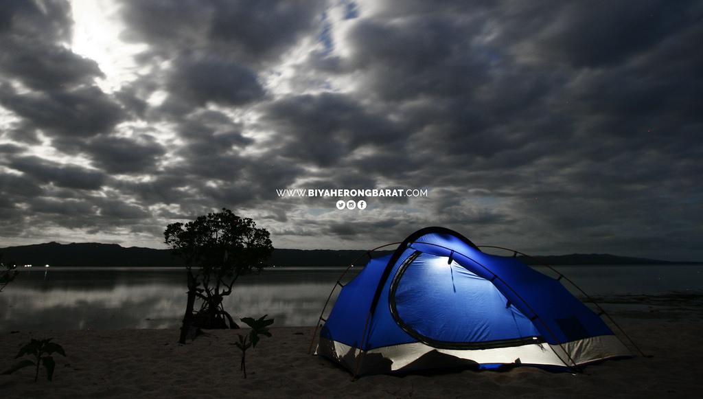 Alibijaban Island San Andres Quezon beach camping tent