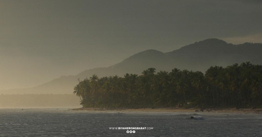 morning sunrise mati city coconut trees davao oriental philippines