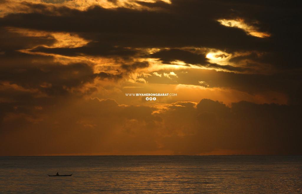 sunrise in dahican beach mati city philippines