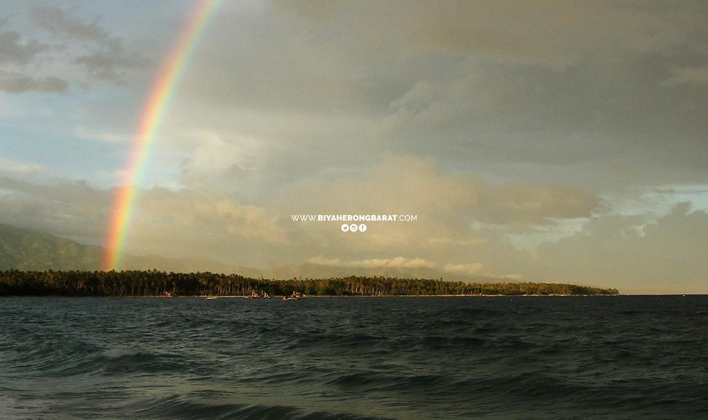 rainbow sunset mati city dahican beach davao oriental