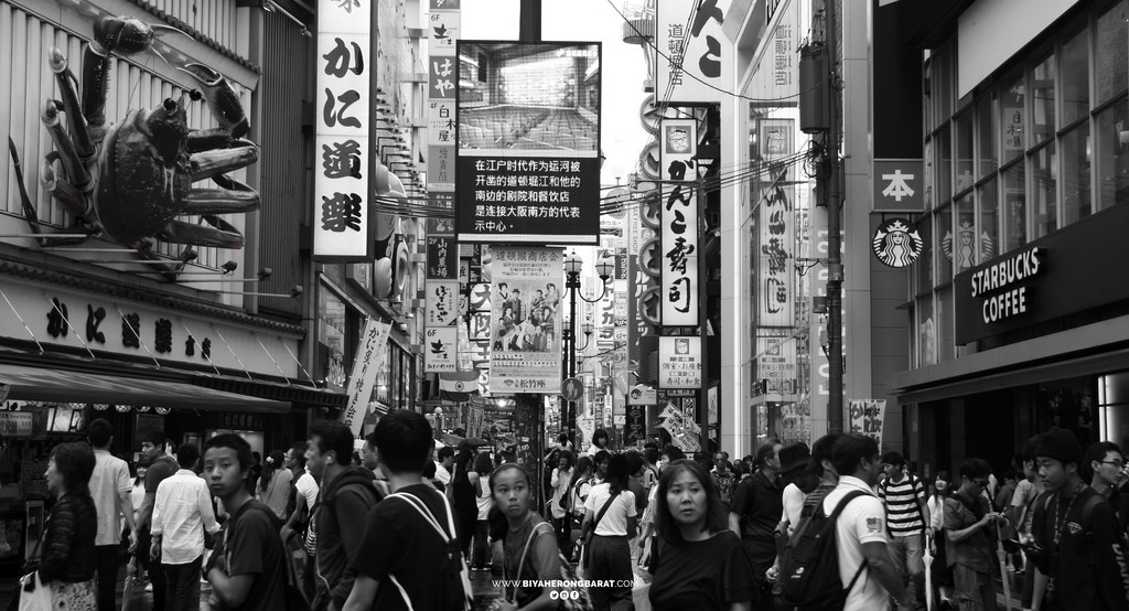 dotonbori shopping in japan osaka shinsaibashi cebu pacific travel street photography